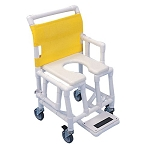 Custom ST603OFT5SF Drop Arm Shower Commode Chair with Soft Seat & Footrest