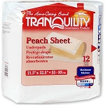 Tranquility Peach Sheet Underpad - 21.5