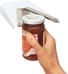 Zim Wall Mounted White Enamel Jar Opener