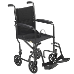 Drive Steel Silver Vein Transport Chair