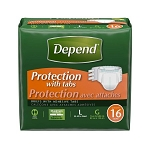 Depend Protection Briefs with Tabs