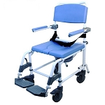 Ezee Life 150 Non-Tilt Aluminum Shower Commode Chair