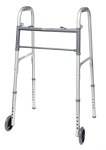 Two-Button Folding Adult Walker with 5