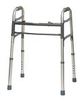 Two-Button Folding Adult Walker