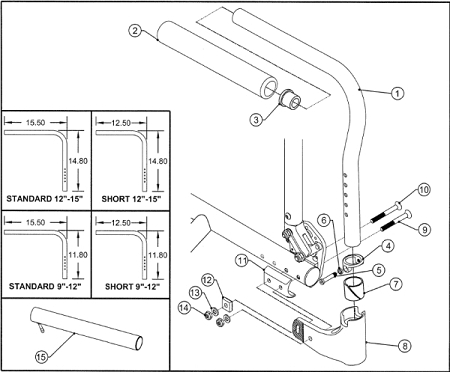 AS110778-Z: Adjustable Angle Swing Away Armest - Right