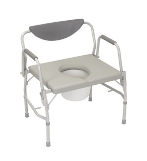 Heavy-Duty Steel Commode with Platform Seat