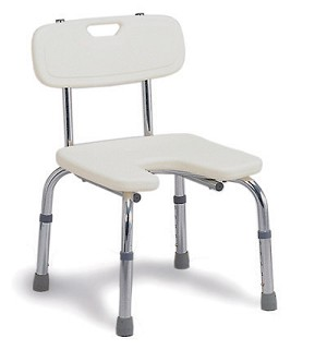Hygienic Bath Seat with Backrest