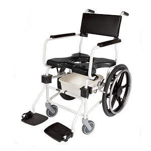 "ActiveAid 620 Shower Commode Chair With 20"" Rear Wheels"