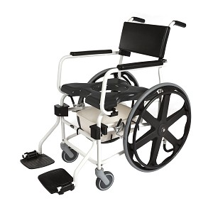 "ActiveAid JTG 624SS Shower Commode Chair With 24"" Rear Wheels"