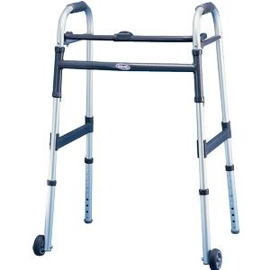 "Invacare Dual-Release Junior Paddle Walker with 5"" Fixed Wheel"