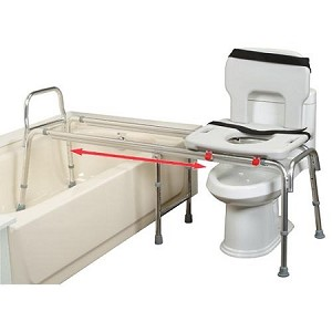 Eagle Health Toilet to Tub Sliding Transfer Bench