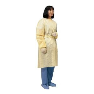 Convertors Yellow Isolation Gown with Ties - Pack of 10