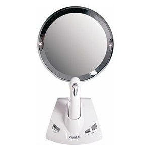 Lighted Power Zoom Motorized Adjustable Magnification Mirror