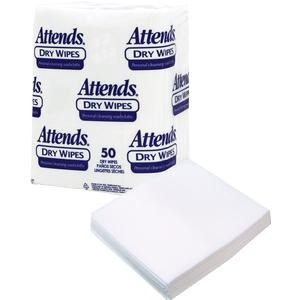 Attends Medium-Weight Disposable Dry Wipes - 10 x 13