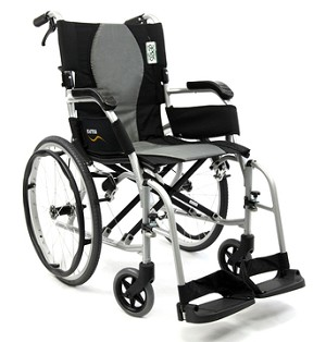 Ergo Flight Ultralight Wheelchair w/ Caregiver Brakes