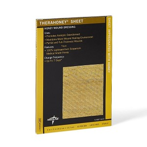 TheraHoney Honey Wound Dressing Sheet - 4 x 5