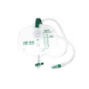 Peco 2000 mL Disposable Urinary Drainage Bag with Anti-Reflux Chamber