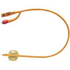 Rusch Gold Silicone Coated Latex 2-Way Foley Catheter - 5-10 cc