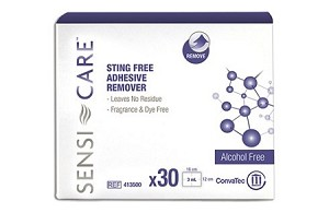 Sensi-Care Sting Free Adhesive Remover Wipes - Box of 30