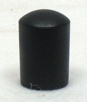 Black Tube End Cap, fits 7/8""