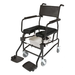 "ActiveAid 600 Shower Commode Chair with 5"" Casters"