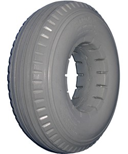"Urethane 4-Rib Wheelchair Tire - 9 x 2-3/4"" (2.80 x 2.50-4)"