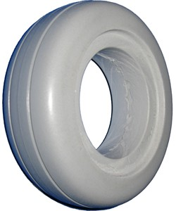 "Urethane 2-Rib Wheelchair Tire -  6"" x 2"" (150-50)"