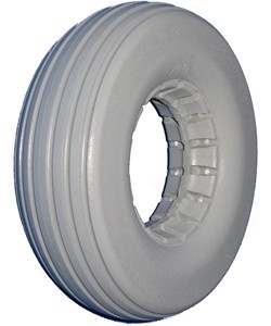 Urethane Multi-Rib Wheelchair Tire - 8 x 2-1/4""