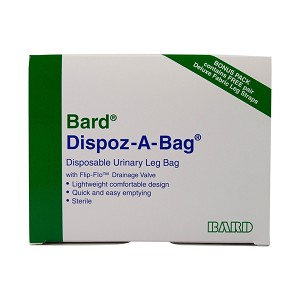 Bard Dispoz-a-Bag w/ Flip-Flo Valve Bonus Pack (4 Leg Bags, 1 Pair Fabric Leg Straps)