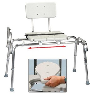 Snap-N-Save Classic Sliding Transfer Bench w/ Cut Out Seat