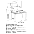 multiCHAIR 5100Tx Tub / Slider System - Dimensions