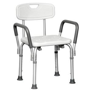Cardinal Shower Chair with Back and Removable Arms