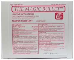 Magic Bullet Suppository - Box of 100