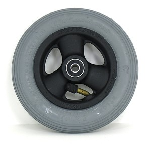 "6"" x 1-3/4"" Quickie 3-Spoke Caster w/ Pneumatic Tire/Tube"
