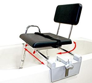 Padded Tub Mount Swivel Sliding Bath Transfer Bench