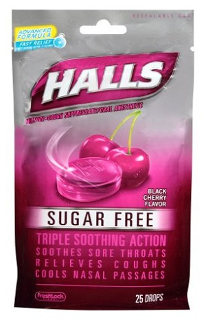 Halls Sugar Free Cough Drops - Pack of 25