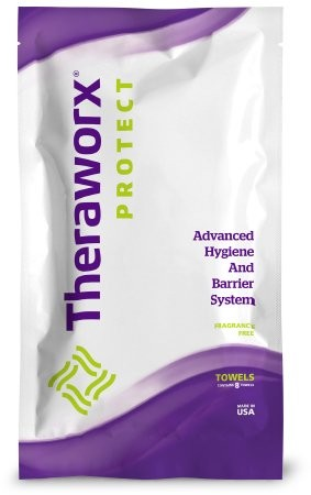 Theraworx Protect Bath Wipes, Unscented