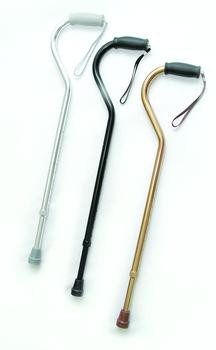 Offset Handle Cane with Strap
