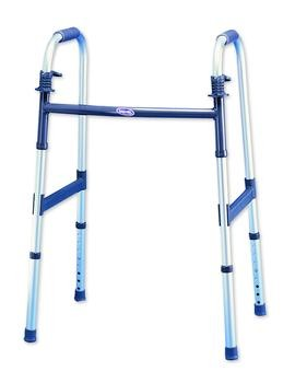 "Invacare Heavy Duty Dual-Release Junior Walker with 5"" Fixed Wheels"