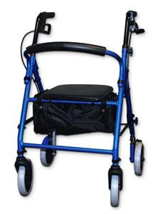 Soft Seat Aluminum Rollator with Curved Back