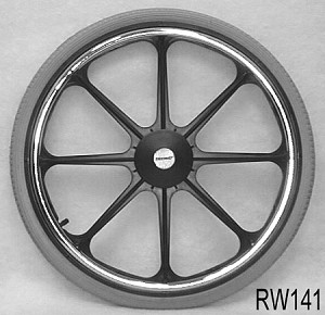 "22"" x 1-3/8"", 8-Spoke Mag Wheel for 7/16"" Axle"
