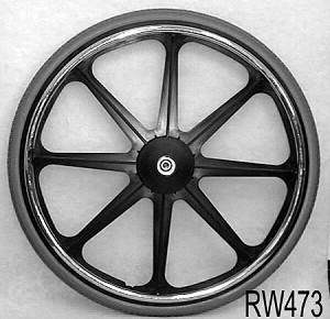 8-Spoke 24 x 1-3/8 Mag Wheelchair Wheel with Recessed Hub