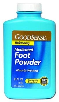 GoodSense Medicated Foot Powder - 4 oz