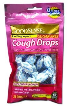GoodSense Sugar Free Black Cherry Cough Drops