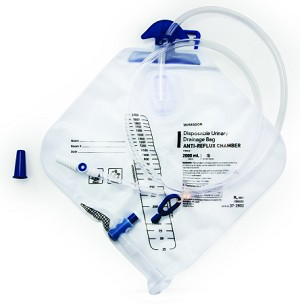 McKesson Disposable Urinary Drainage Bag with Anti-Reflux Drip Chamber