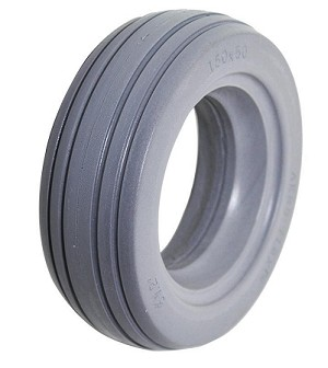 "Urethane 4-Rib Wheelchair Tire -  6"" x 2"" (150-50)"