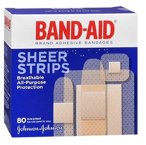 Band-Aid Sheer Strips - Box of 80