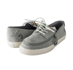 Billy Boat Grey Suede Adaptive Zipper Pull Shoes
