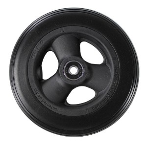"7"" x 1"" Hollow Spoke Caster w/ Urethane Round Tire"