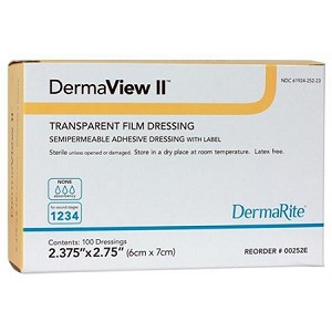 DermaView II Transparent Film Dressing